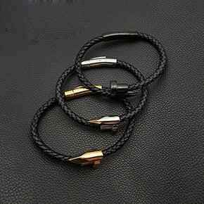 10 Bracelet  VEROMCA Leather-based Bracelet Stainless Metal Bracelets Males Jewellery Excessive High quality Charms Bracelets jewellery Magnetic Bracelet HTB1wpVOh5OYBuNjSsD4q6zSkFXaL