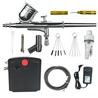Dual Action Airbrush Air Compressor Kit Spraying For Art Painting Tattoo Manicure Craft Cake Spray Model Air Brush Nail