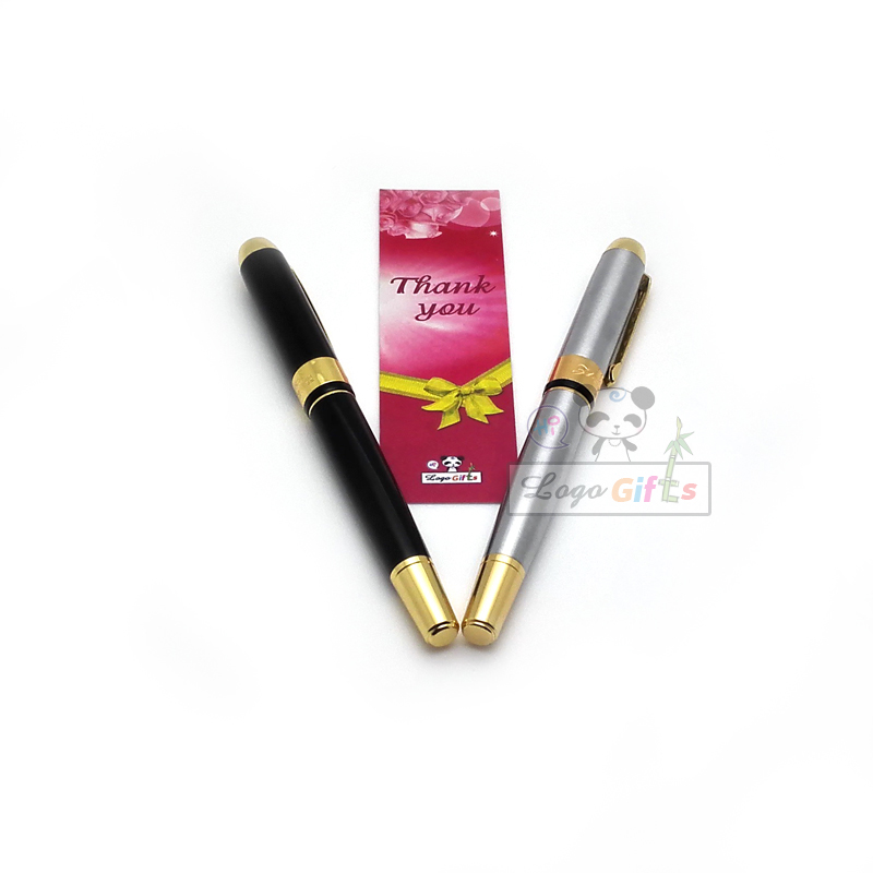 HOT wedding gifts for bridesmaids 70g/PC great quality gift pen with a box 2pcs lot silver and black color