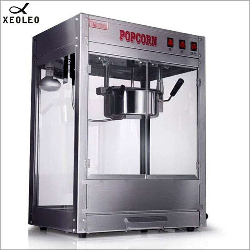 XEOLEO Gewerbepopcornmaschine 8 UNZE Popcorn maschine edelstahl Elektrische Öl knallte maschine 1200 Watt Mais knallen Nicht-stick