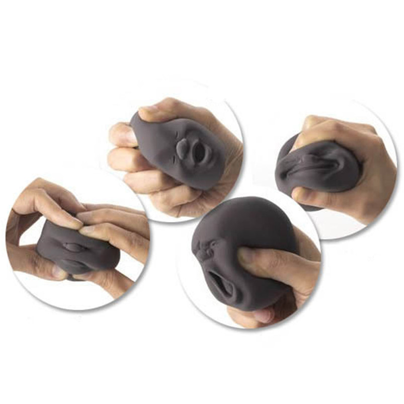 shocker Funny toys anti-stress Fidget Humorous Face Top Anti-stress Helper Pressure Reliver Vent Ball Toy best gift