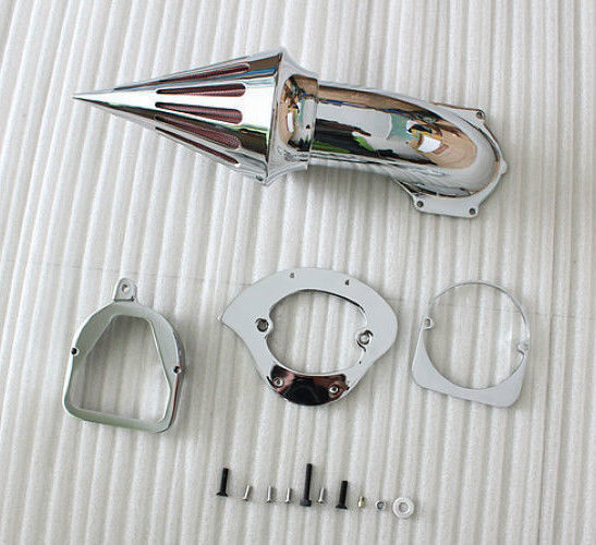 Motorcycle Chrome Spike Air Cleaner Kit Intake Filter For Honda Shadow Spirit ACE 750 1998+ Moto chrome aluminum motorcycle spike air cleaner intake filter case for honda shadow vlx600 vt600cd deluxe 1999 up