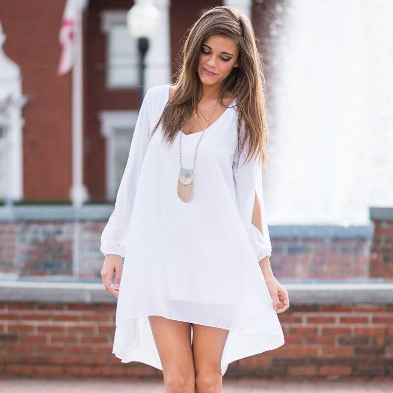White Summer Chiffon Dress