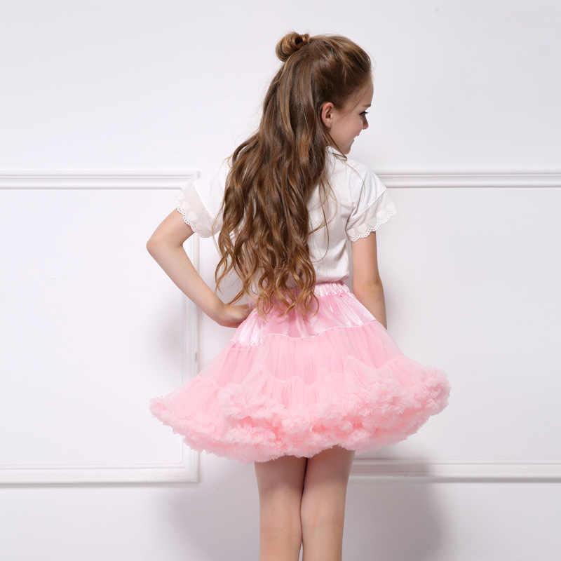 1-10Y Mädchen Tutu Rock Ballerina Pettiskirt Schicht Flauschigen Kinder Ballett Röcke Für Party Tanz Prinzessin Mädchen Tüll Minirock
