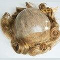 4 В Beautie Супер Натуральных волос Швейцарской Кружева Перед Парик, V Петли Невидимые Узлы Ультра Тонкий Кожи Системы Волос Для Мужчин