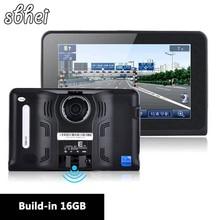 7 дюймов Android GPS Автомобиля Навигации заднего вида cameraTruck Автомобильный GPS навигатор Автомобиля Tablet PC Радар-Детектор встроенный 8 ГБ/16 гб