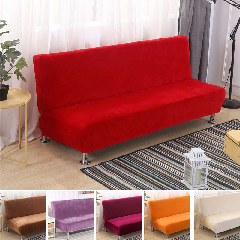 Armless Sofa Cover Studio Couch