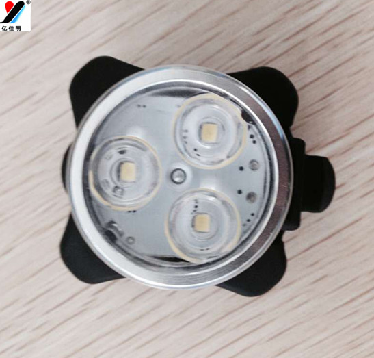Free Shipping 3pcs/lot 3W New Unique Products Led Bike Light Indicator Lighting Products LED 3T6 With 4 Lighting Modes