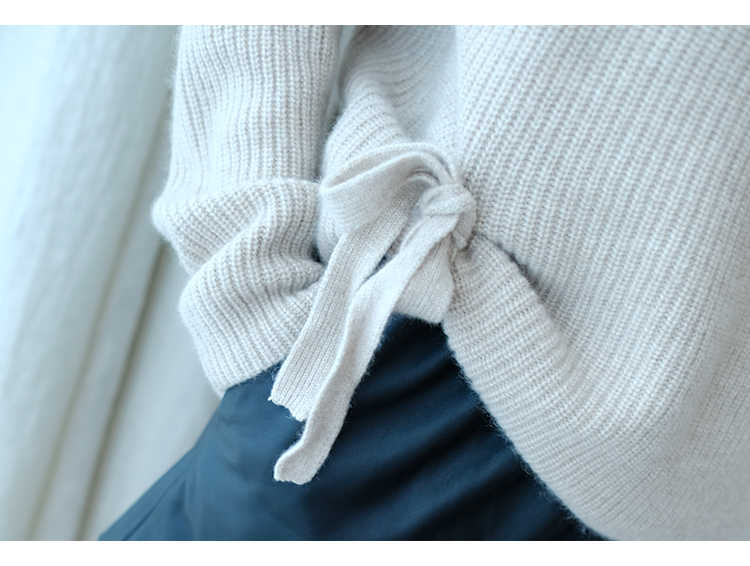 Women Sweater 100% Cashmere and Wool Knitting Jumpers Woman Winter Turtleneck Fashion Warm Pullovers Hot Sale Woman Knitwear Top