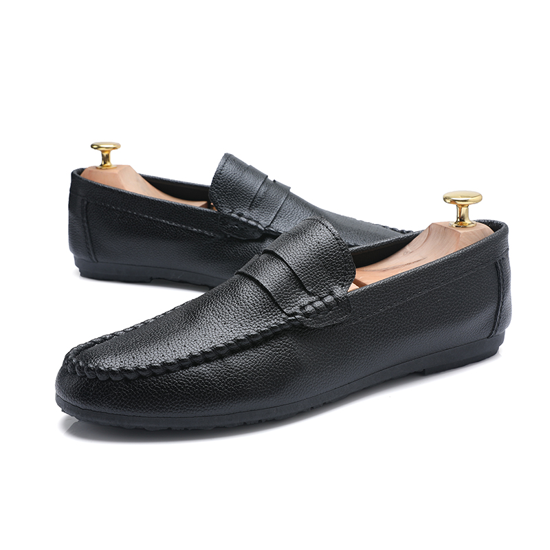 Casual Leather Men Shoes Lightweight Men's Fashion Classic Gentleman Shoes Slip on Black White Male PU Leather Loafers автокресло cybex solution x blue moon