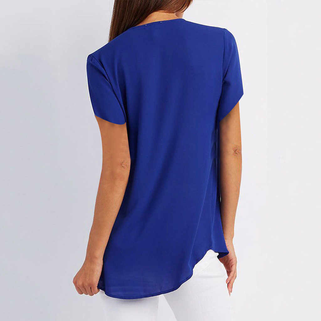 blusasmujerdemoda2019women'sblouseshirtWomens Casual Tops Shirt Ladies V Neck Zipper LooseShirt Blouse Tee Top tunika