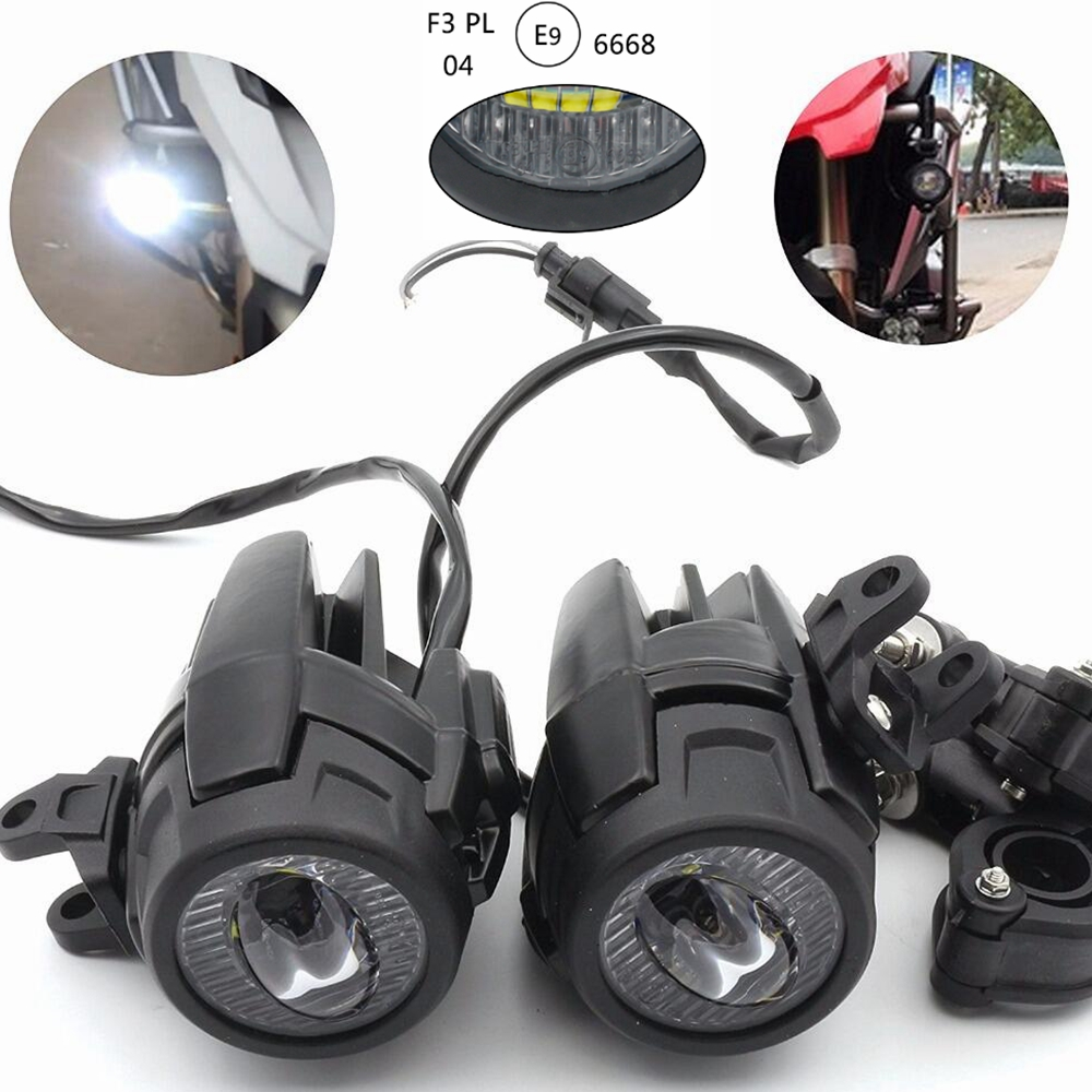 medium resolution of motorcycle led fog light protect guards with wiring harness for bmw r1200 gs adv