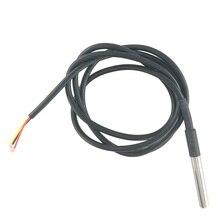 50 sztuk DS1820 pakiet ze stali nierdzewnej wodoodporny DS18b20 czujnik temperatury czujnik temperatury 18B20 dla arduino