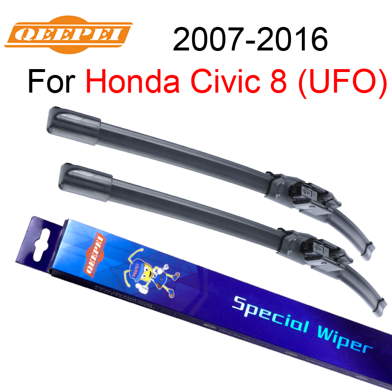 QEEPEI Wiper Blade For Honda Civic 8 (UFO) 2007-2016 26''+23''R High Quality Iso9000 Natural Rubber Clean Front Windshield CPU2