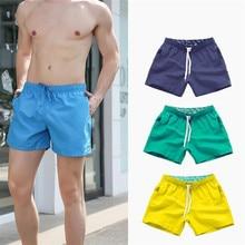 DICHSKI Pocket Quick Dry Swimming Shorts For Men Swimwear Man Swimsuit Swim Trunks Summer Bathing Be