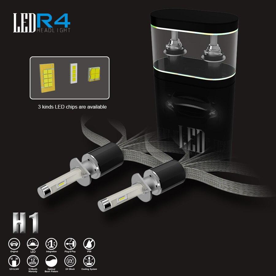 Super Lumineux 3000 k 4300 k 6000 k 8000 k Voiture LED Phare H1 H3 H4 H7 H8 H11 9005 HB3 9006 HB4 9012 HIR2 Auto Brouillard Ampoule De la Lampe