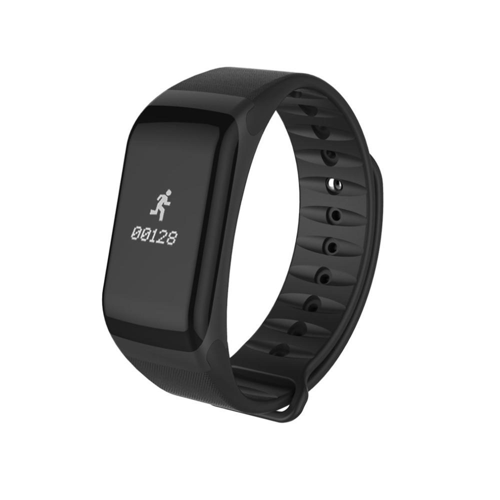 Brillant F1 Schrittzähler Bluetooth Smart Armband Herz Rate Fitness Tracker Oxymetrie Blutdruck Monitor Ip67 Wasserdichte Sport Uhr PüNktliches Timing Schrittzähler