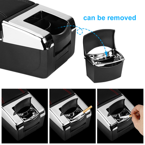 Image 4 - Universal Armrest Box Central Container Storage Box PU Leather Armrest Box Car Styling Accessories Single Layer Dual Layer