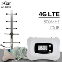 300 Square Meter 70dB Gain 4G LTE 800mhz Band 20 Mobile Phone Signal Booster 4G LTE Cellphone Cellular Signal Repeater Amplifier