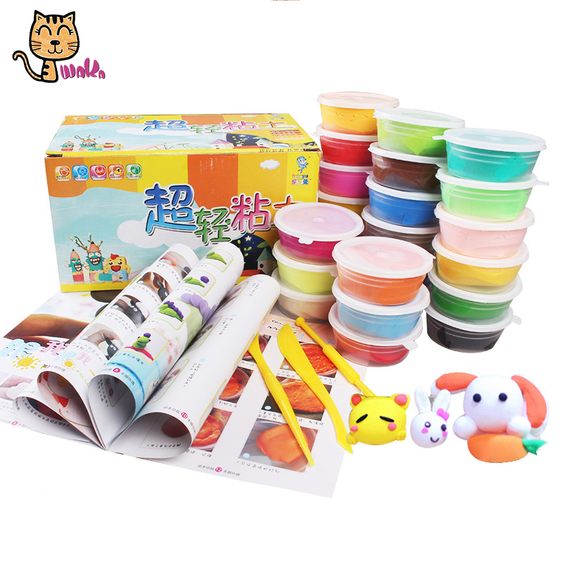 24 colors super light clay air dry plasticine modeling