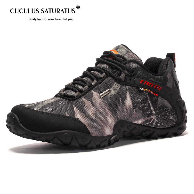 Cuculus hommes chaussures de randonnée 2019 nouveau Design semelle en caoutchouc antidérapant en plein air respirant chaussures de Sport chaussures de randonnée baskets haut de gamme 8068