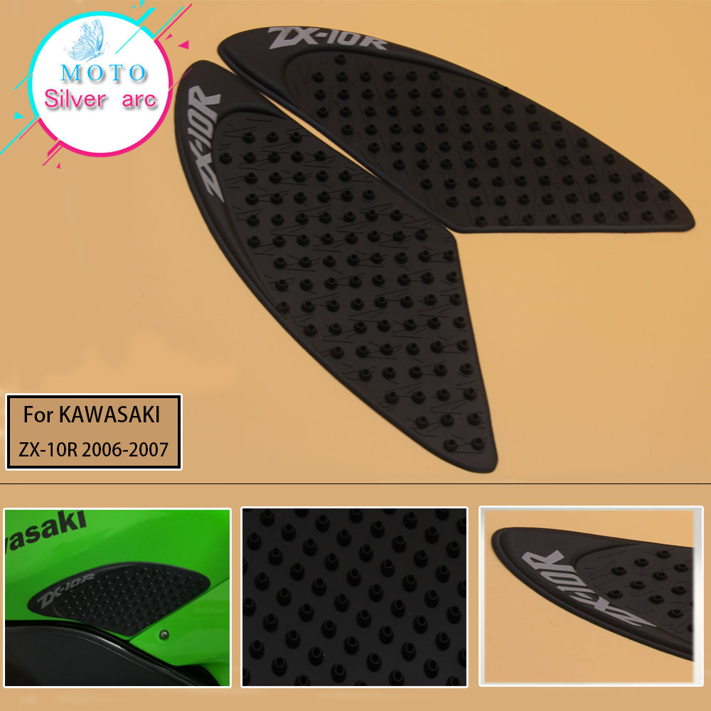 For Kawasaki ZX-10R 2006 2007 ZX10R Motorcycle Anti slip Tank Pad 3M Side Gas Knee Grip Traction Pads Protector Stickers