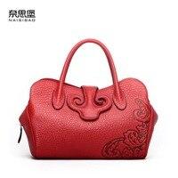 2018 новые кожаные сумки китайский ветер ретро сумка кожаная сумочка