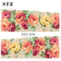 1sheets New Flower Nail Art Decorations DIY Water Transfer Stickers on nails tips Full Cover Wraps Manicure Styling Tools STZ074