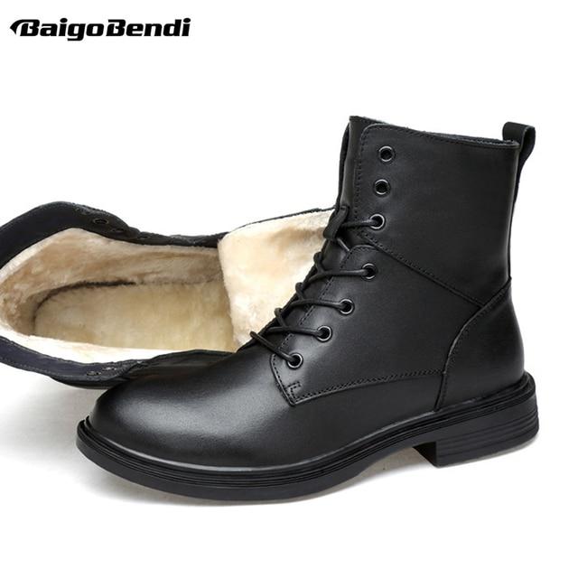 Plus Size US 13 14 15 Man Leather Super Warm Mid-calf Snow Boots Mens Winter  Outdoor Warm Plush Cotton Shoes Size 46 47 48 49 21cf07e8e