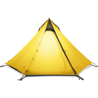 Outdoor Camping Teepee Tent 4 Person 4 Season Large Ultralight Tent Waterproof Windproof Backpacking Hiking Tents