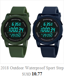 Cool Men's Oversized Design Light Digital Sports Plan Shaped Dial Wrist Watches 3