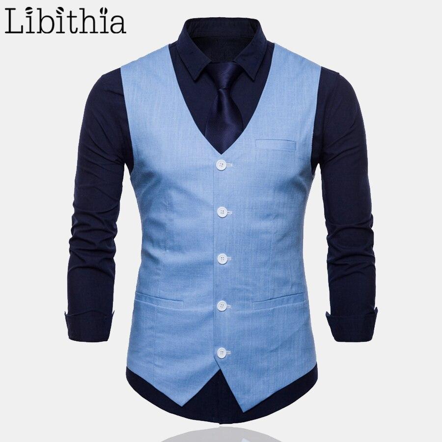 9 Colors Mens Casual Linen Suit Vest Thin Fabric Big Size M 4XL Luxury Waistcoat Men White Yellow Green Orange Light Blue T162
