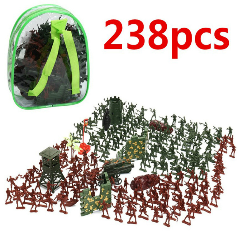 238PCS World War II Military 4cm Pvc Figure Soldiers Set Up Kingdom Hearts Hot Toys Kid Toys 6 Year Old Action Figures Weapon
