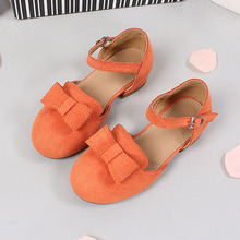 Bowknot princess summer girls leather shoes dance shoes for girls sandals kids flst shoes