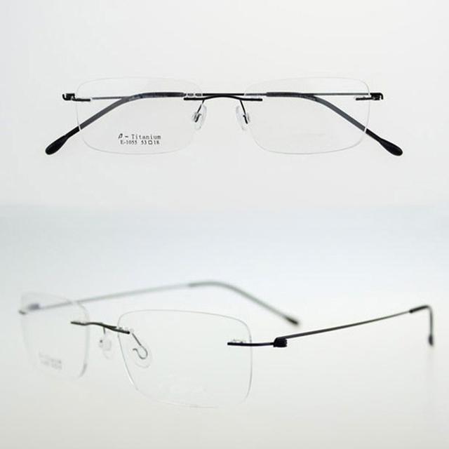 Sem aro de titânio ultraleve óculos de armação miopia quadro boa aparência e conforto armações de óculos