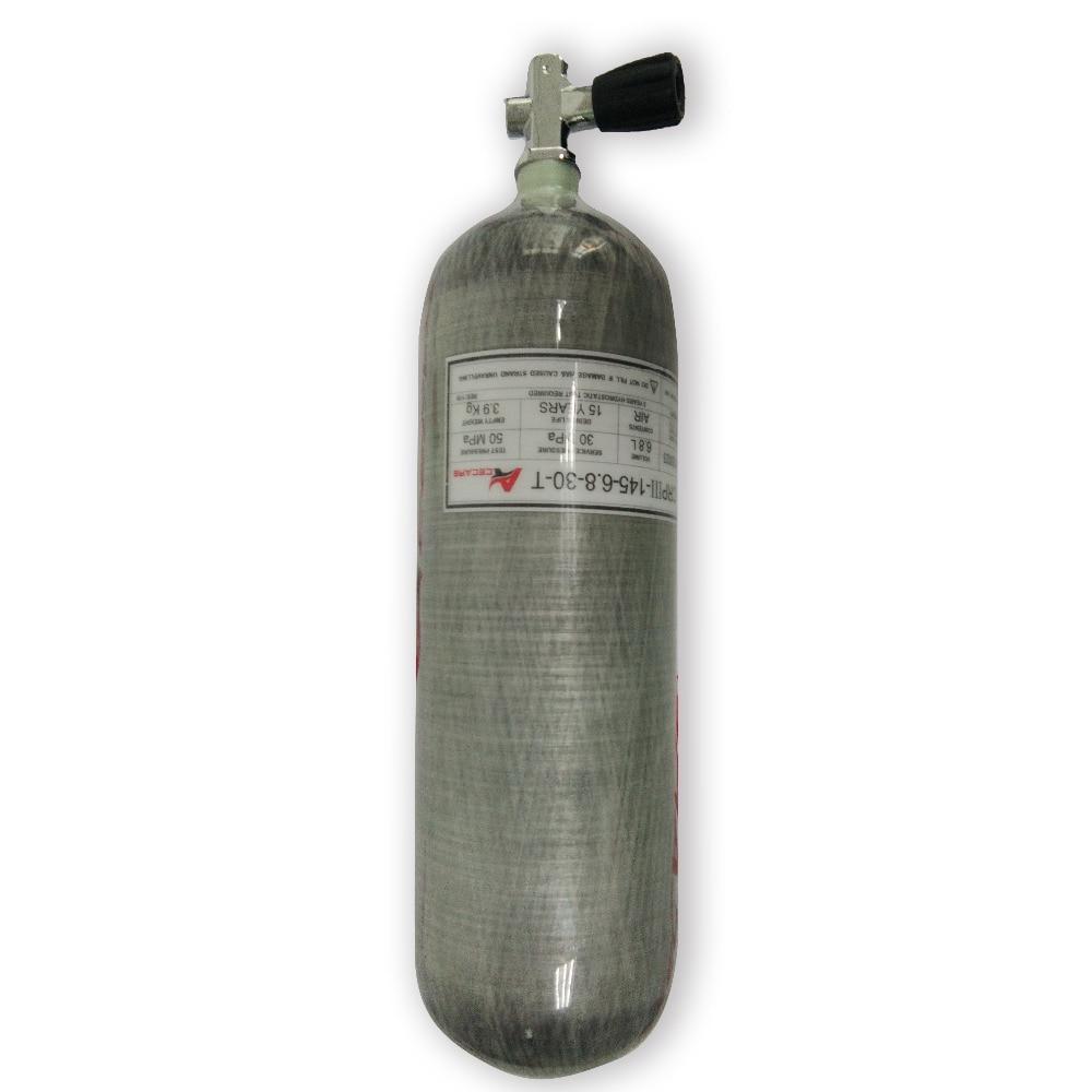 AC16851 4500Psi 30Mpa 6.8L CE High Pressure Cylinder Scuba Diving Tank Compressor Diving Cylinder Compressed Air Paintball Tank