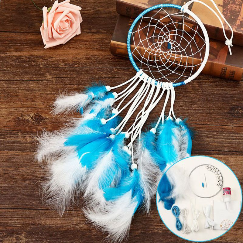 New Indian Style Sweet Dream Feather Dreamcatcher Wind Chimes For Bedroom Decor Wall Hanging Decor Gift For Kids Gifts 1 in Wind Chimes Hanging Decorations from Home Garden