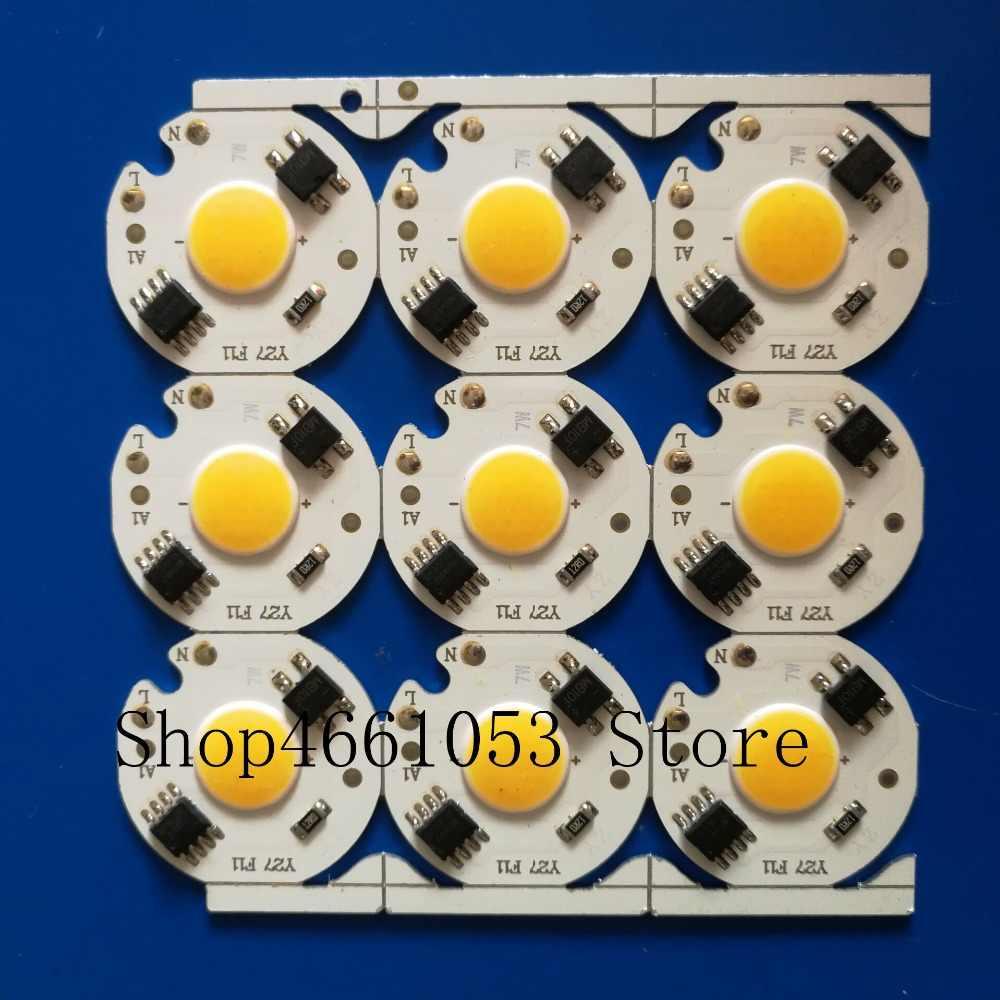 COB Chip 5W 7W 3W 9W AC 220V 220V No need driver Smart IC bulb lamp For DIY LED Floodlight Spotlight