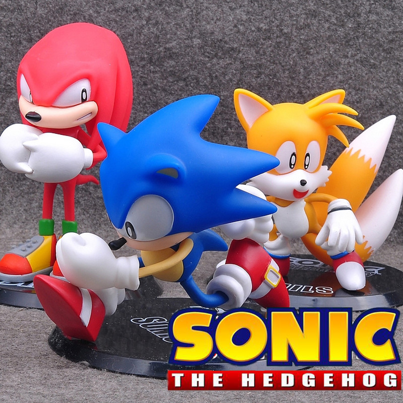 Sonic Tails Knuckles Collectible Action Figures Series Model Toys With Retail Box Sonic The Hedgehog And His Friends
