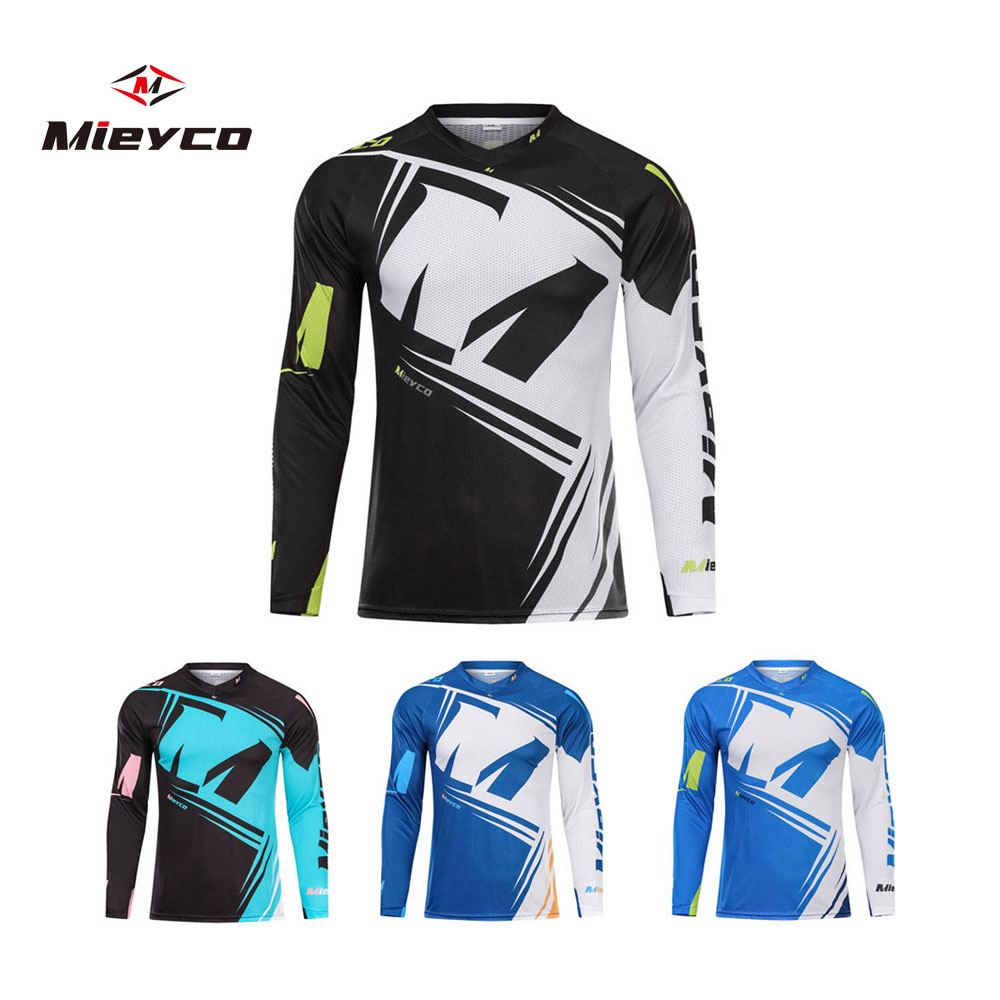 New 2019 Summer Long Sleeve Downhill Jersey MTB MX MOTO Mountain Bike Racing Clothing Quick Dry Cycling Jersey shirt triathlon