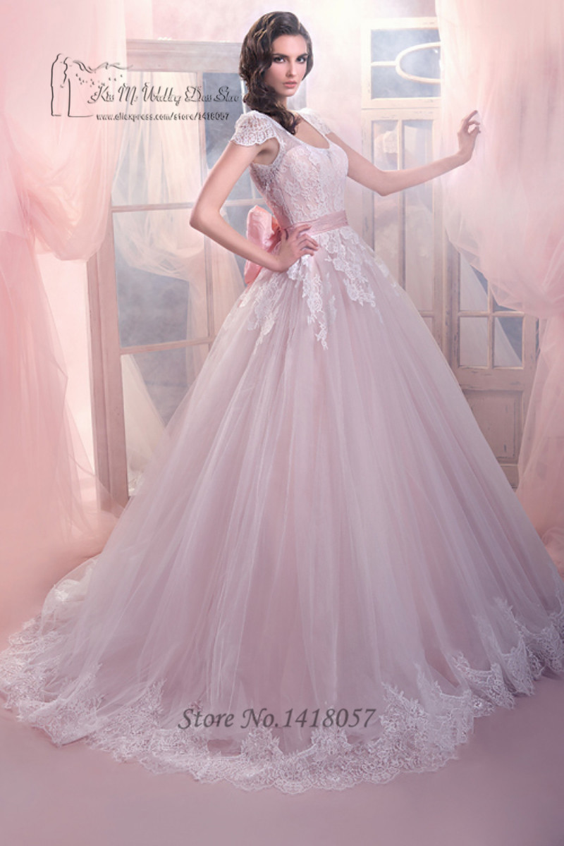 Light Pink Princess Wedding Dresses