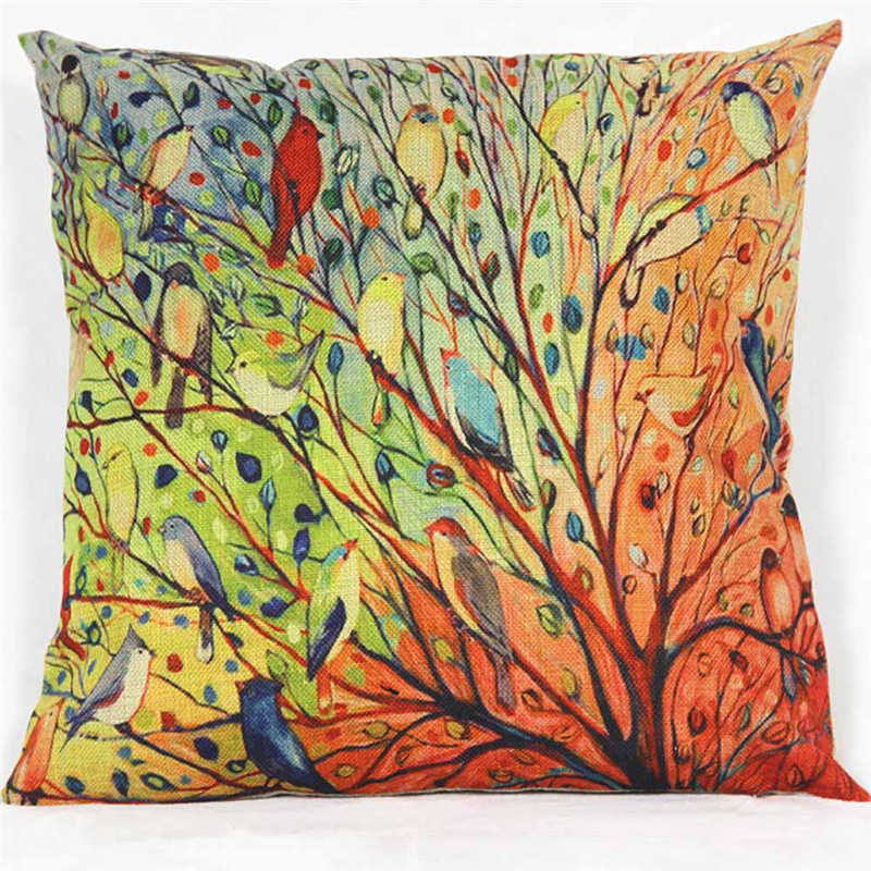 Image 2 - Novel Plant Printed Pattern Pillowcases Cover Super fabric Home  Bed  Decorative Throw Bedding Pillow Case-in Pillow Case from Home & Garden