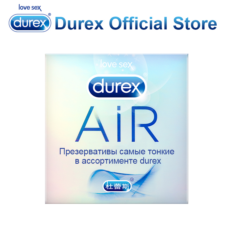 Original Durex Condom Air Feel Thin Soft Condoms with Gel Lubricant Intimate Sex Erotic Products for