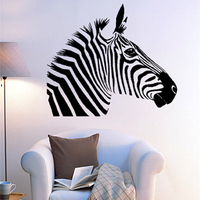 Free Shipping Wall Stickers Home Decor SIze 560mm 670mm PVC Vinyl Paster Removable Art Mural Zebra
