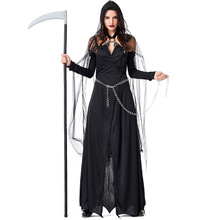 Umorden Women Lady Death Grim Reaper Scary Ghost Demon Costume Halloween Purim Party Cosplay Dress