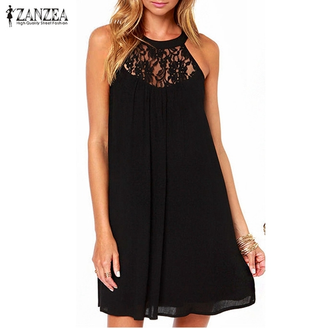 2017 summer style zanzea women sexy lace patchwork chiffon dresses 2017 summer style zanzea women sexy lace patchwork chiffon dresses sleeveless casual loose party mini dress fandeluxe Images