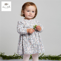 DB3913 Dave Bella Autumn Baby Girl Floral Dress Girls A Line Dress