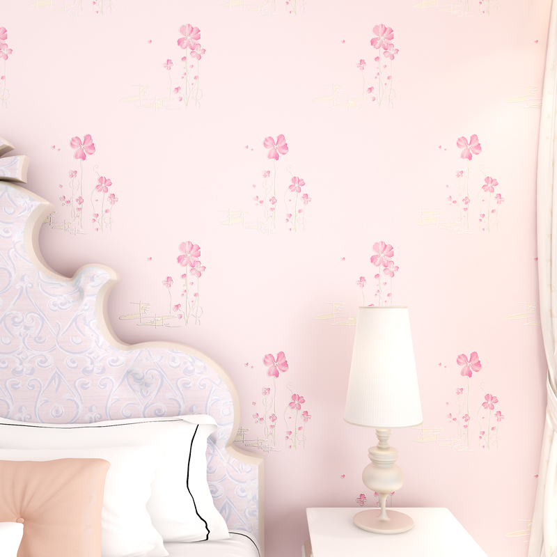 Rustic Floral Wallpaper 3D Non-woven Wallpaper For Bedroom Walls Girls Room Wallpapers Flower Paper Contact fashion rustic wallpaper 3d non woven wallpapers pastoral floral wall paper mural design bedroom wallpaper contact home decor