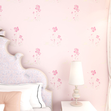 Rustic non-woven wallpaper 3d stereotelevision beijingqiang child room