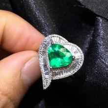 GUILD Fine Jewelry G18k Rings Real Diamonds 18K Gold Natural Emerald 1.91ct Gemstones Female Wedding Rings for women Fine Ring fine jewelry customized size real 18k rose gold au750 100% natural tourmaline gemstone female rings for women fine ring